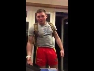 Gay British Soldier Sucks Off Straight Friend