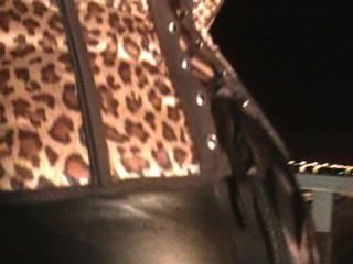 Charley Atwel Smoking In Leather 3