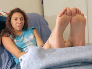 Tickled Ebony Teen Soles
