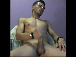 Str8 Italian Guy Milking His Dick