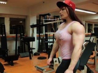 Fbb Flexing Her Huge Biceps