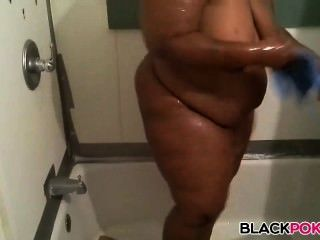 Black Amateur Bbw In Shower