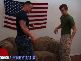 Private First Class Jett Gives His First Blowjob
