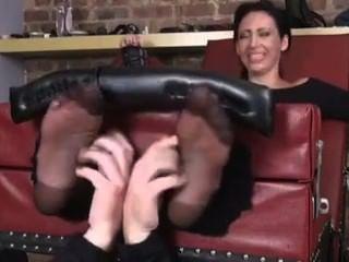 nylon feet tickled Mature