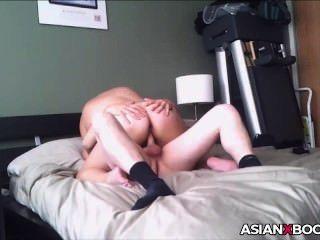 Big Ass Asian Babe Rides Dick