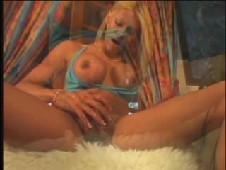 Super Sexy Blond Shemale Solo