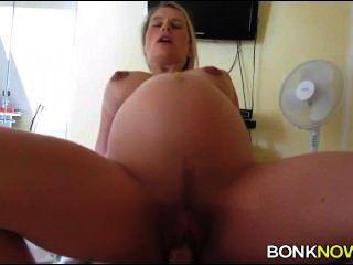 Pregnant Blonde Rides Dick