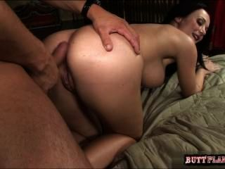 Busty Housewife Cum Filled Ass