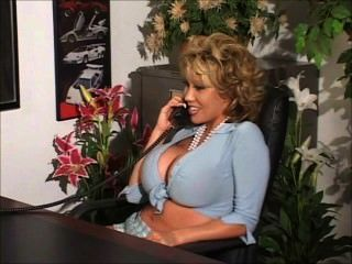 Big Boobs Stripstease In The Office See More At Www.bigtittyclips.com