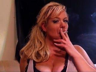 Blonde Milf Smoking Fetish All White