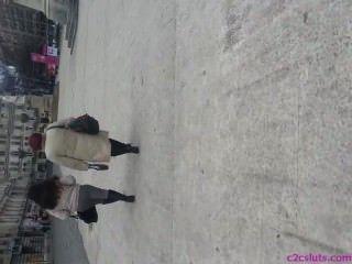 Spy Sexy Ass In Street Romanian