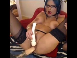 Slut Having Fun With Mechanical Cock + @ 69porncams.com