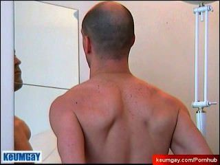 Cock Massage In A Mirror !