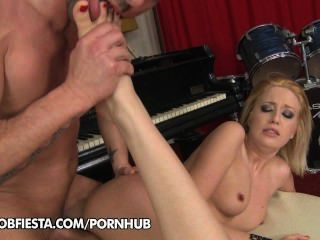 Blanche Summer Demonstrates Her Feet Skills To Her Music Teacher