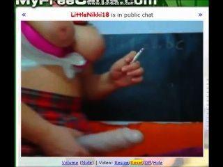 Smoking And Dildo Gag