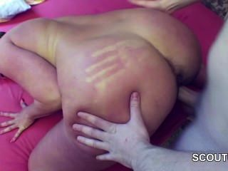 German Hairy Mom Fuck Young Skinny Step-son