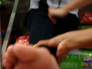 Tickling Feet At Walmart