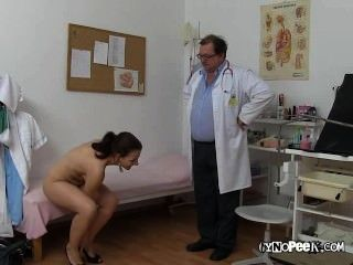 Tarya King Strips For Medical Exam
