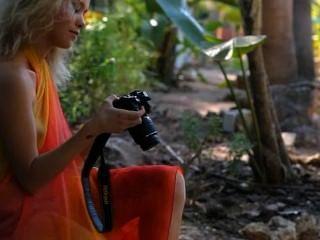 Beautiful Fairhair Madonna Photographer