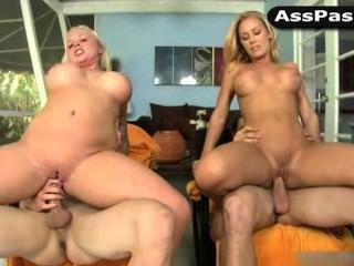 Blondes Angel Vain, Nicole Aniston Ride Cock