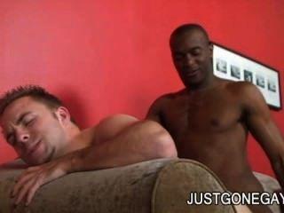 Justyn Blade - Bigcock Ebony Dude Exploring A White Ass