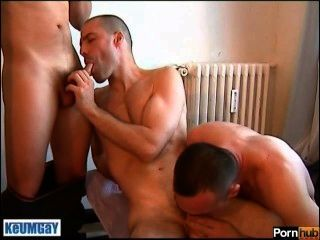 2 Handsome Guys Get Sucking An Assistant