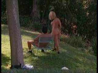 Blonde Devon Getting Pumped In Garden