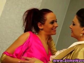 Glam Euro Lesbians Love Gloryhole