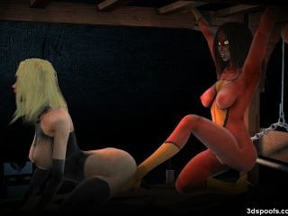 Marvelous Girls Hardcore Bondage And Lesbian Fuck Fest