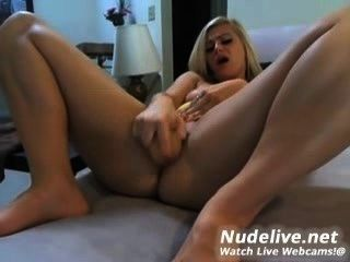 Webcam Masturbation - Very Hot And Slutty Blonde And Her Dildo