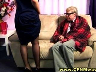 Sweet Ass Cfnm Babe Makes Geriatric Horny