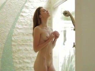 Seductive Bathroom Masturbation