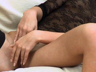 Nasty Teen Sucking Dildo On The Couch