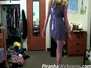 Webcam Masturbation -super Hot Teen Dorm Strip