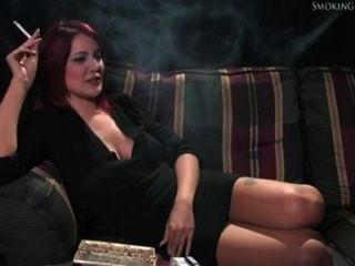 Ellie Smoking