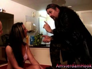 Real Prostitute Finger Blowjob