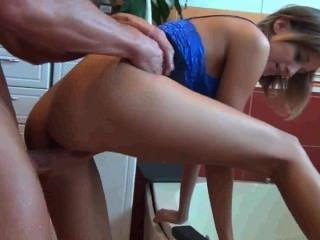 German Small Tits Girl Fucked In Bathroom