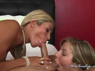 Blondes Team Up To Take A Hard Cock