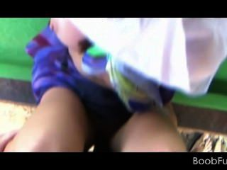 Tempting Amateur Girl Gets Fucked On A Table Outdoor