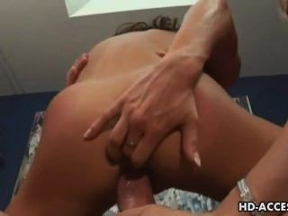 Hard Anal Threesome Action