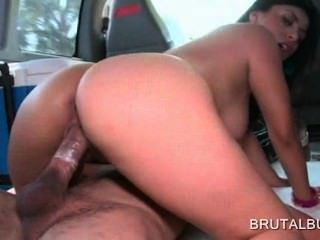 Brunette In Big Tits Jumping Shaft In The Bus Gets A Facial