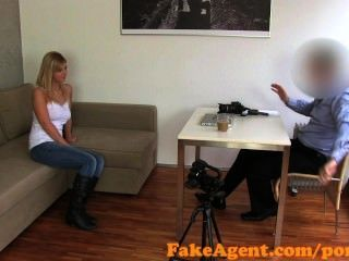 Fakeagent First Time Facial For Cute Blonde