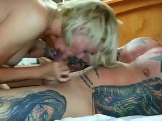 Blowjob For Tattoed Muscle