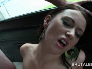 Teen Hottie Filling Her Pussy With Huge Dick In The Sex Bus