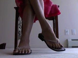 Mature Foot Tease
