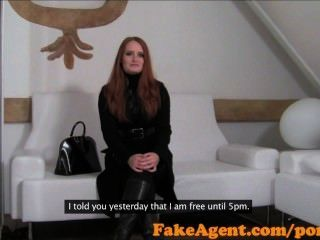 Fakeagent Amazing Red Head Goes All The Way