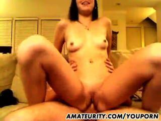 Naughty Amateur Girlfriend Sucks And Fucks