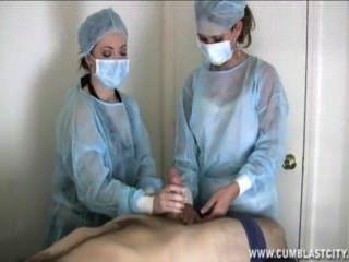 Two Nurses Tag-team A Dick