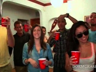 College Guys Get Dicks Blown In A Row By Sexy Pornstars