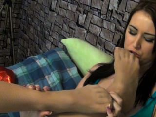 Macy And Alexis Foot Control